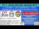 TFF 2. Ligde Sezon Bitti 1. Lige Çıkanlar - 3. Lige Düşenler ve Play Off Oynayacaklar Belli Oldu