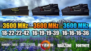 3600MHz 18-22-22-42 vs 3600MHz 16-19-19-39 vs 3600MHz 16-16-16-36 with 3900X | RAM Comparison Test