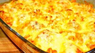 Блюдо сметается со стола сразу. Запеканка с куриными фрикадельками, цветной капустой и картофелем