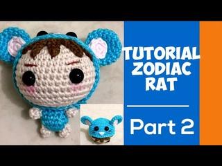 How To Crochet Rat | Amigurumi Rat Costum | Doll Amigurumi |Вязание | Amigurumi Tutorial | Part 2