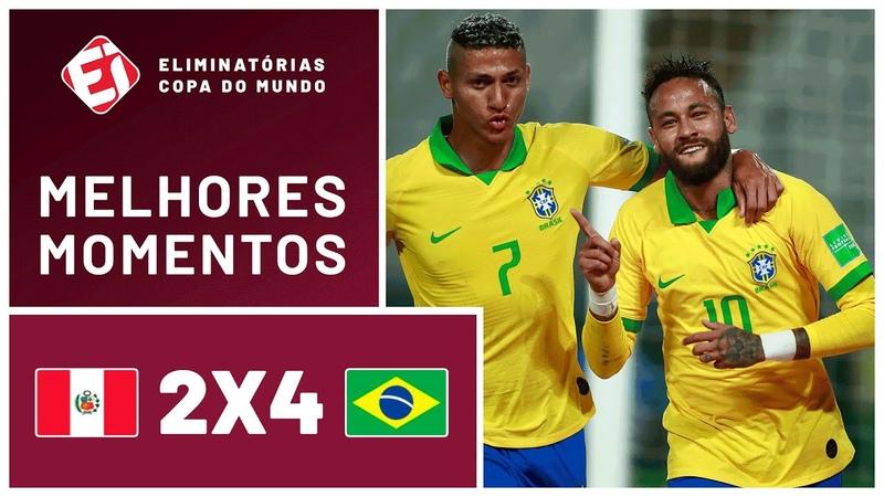 SHOW DE NEYMAR! BRASIL VENCE O PERU NAS ELIMINATÓRIAS DA COPA - MELHORES MOMENTOS (13102020)