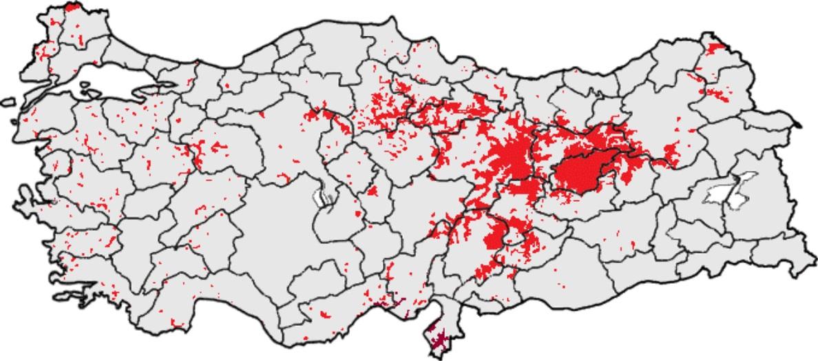 Карта Алавитов и Алевитов по Турции