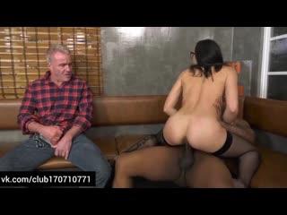 Avi Love Wants DP With Big Black Cocks Front Of Her Cuckold Bf sexwife cuck bull муж куколд дрочит смотрит как ебут жену негры