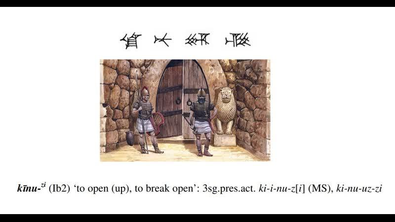Hititçe Hittite word of the day kı̄nu zi 'to open up
