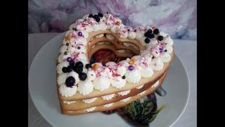 Медовый торт -  сердце! Лучший рецепт домашнего торта! Ко Дню Святого Валентина!