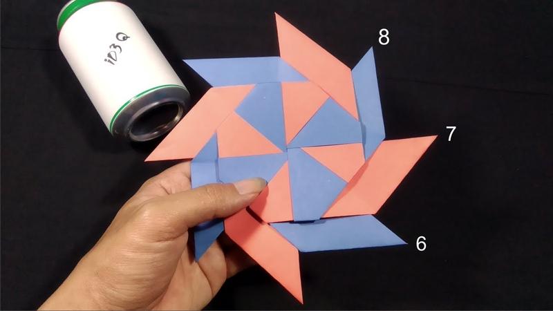 Cara Membuat Shuriken Besar Shuriken Bintang 8