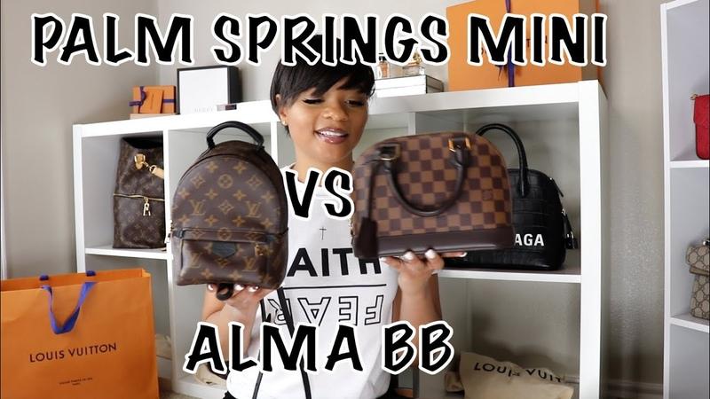 Louis Vuitton Palm Springs Mini VS Alma BB Kia Tache Bag Battles