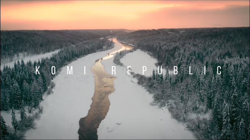 Aerial view Winter in Komi Republic Sosnogorsk Аэросъемка Зима в Республике Коми