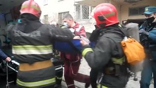 . Гомель. Пожар со спасённым по улице Головацкого