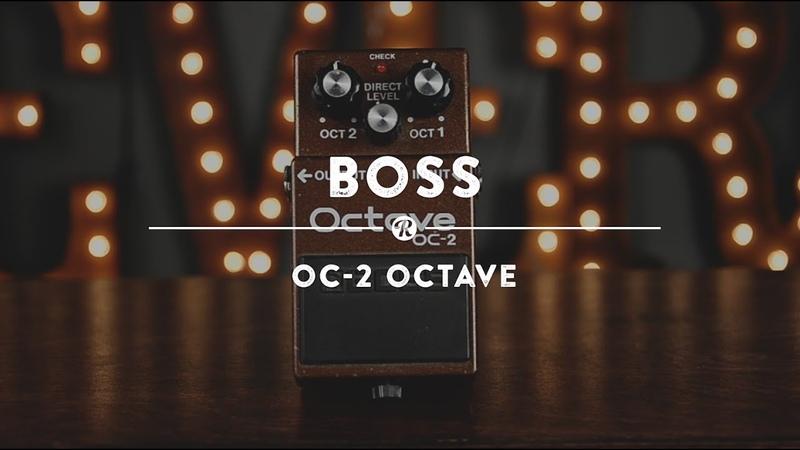 Boss OC 2 Octave Pedal Reverb Demo Video