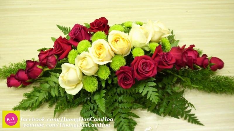 Cách cắm hoa để bàn đẹp HOA HỒNG Trứng mix Cúc xanh|Cắm hoa mở shop 66