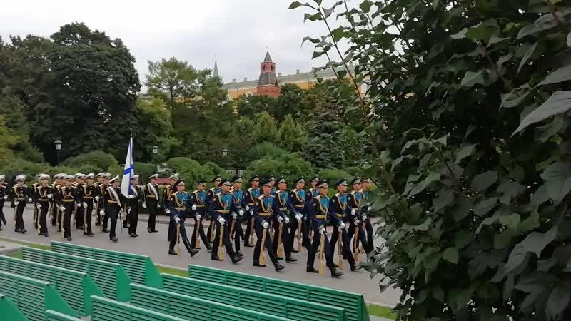 День города 2020 Курсанты в Александровском саду