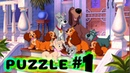 Disney, Lady and the Tramp | Дисней, Леди и Бродяга | PUZZLE ONLINE
