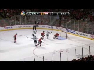 Valeri Nichushkin Snipes a Goal Five-Hole vs Chicago (12/3/13)