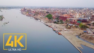 4K Colors of India - Vrindavan and Mayapur - City Life Video with City Sounds