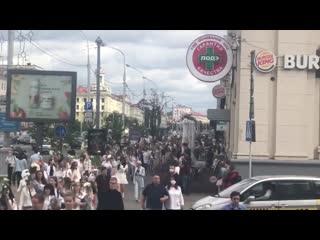 Акция солидарности на Якуба Коласа