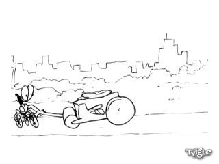 Хруст без правил: Каток против велосипеда