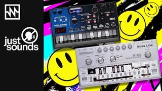 Just Sounds: KORG Volca Nubass meets the Roland TB-303