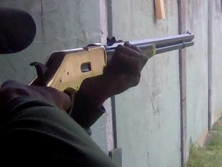 shooting our new .45 uberti henry lever action
