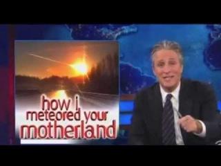 Jon Stewart Russia Meteor Daily Show