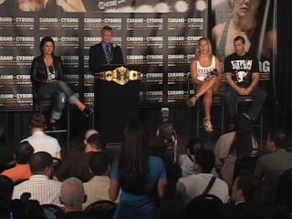 Gina Caranо – промо нарезка с открытой трени «Madison Square Garden» и с пресс-конференции с Cris Cyborg.