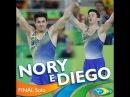 Diego Hypolito e Arthur Nory fazem dobradinha brasileira no solo nas olimpíadas rio 2016
