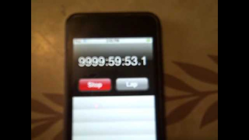 IPod Stopwatch ticks over from 9999hrs 59secs to 10000hrs. What will happen