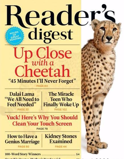 Readers Digest International May 2017