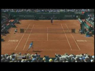 Nadal vs Verdasco Super Point! (Monte Carlo 2010 Final)