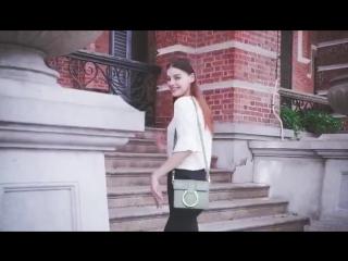 модель Photomodel style в Китае для рекламы сумок Kisscat
