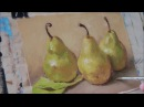 Pears. Oil painting. 06 09 2015.