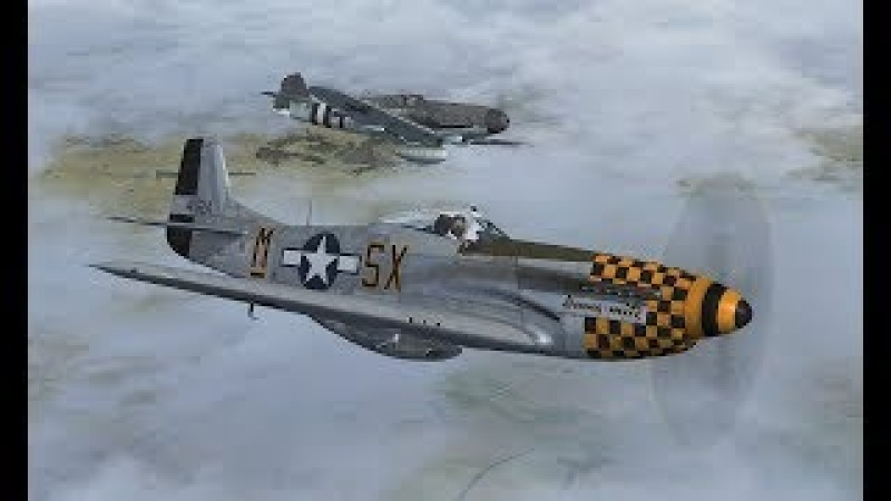 Дуэль Bf.109K-4 против P-51D