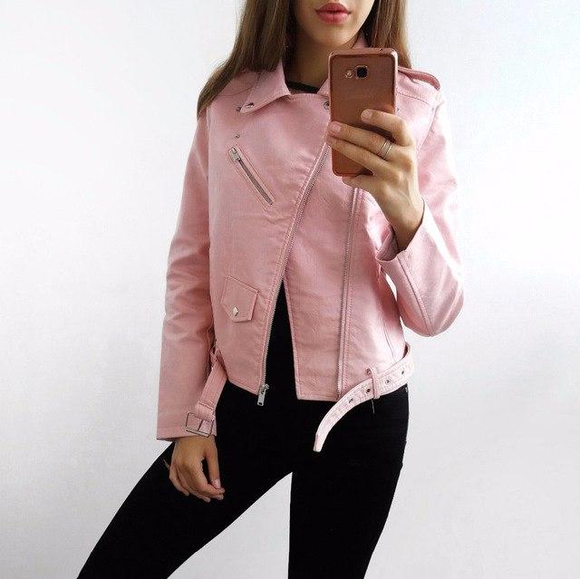 Розовая косуха отличного качества