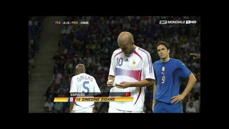 Cabezazo de Zidane Mundial Alemania 2006 HD