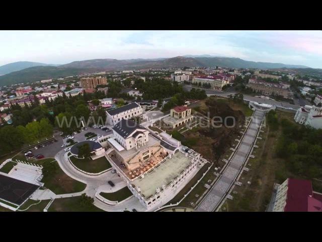 Cъемка с высоты птичьего полета Гандзасар Шуши Степанакерт