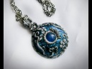 Polymer Clay Tutorial pendant necklace Ice Realm Amulet
