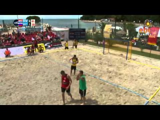 EBT Finals Beach Handball 2013. Sokol (CRO) - SKKM Ekaterinodar (RUS)/ Пляжный гандбол. Екатеринодар (Краснодар Россиия) - Сокол(Хорватия)