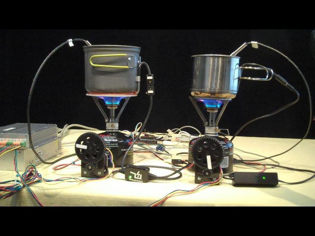 TEST DATA PowerPot and Cup Charger Thermoelectric Generator USB fire powerd TEG face off