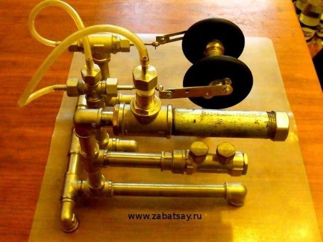 Паровой двигатель голыми руками. Steam Engine Barehanded.