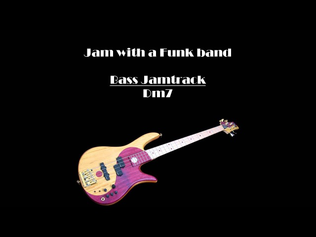 JamTrack BASS Funk in D
