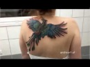 Тату-мастер создал потрясающую 3D татуировку феникса на спине женщины