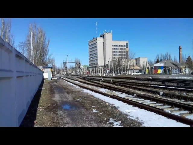 ТЭП70-0062 С поездом 608 сообщением Запорожье-пологи-Бердянск и приветливый машинист