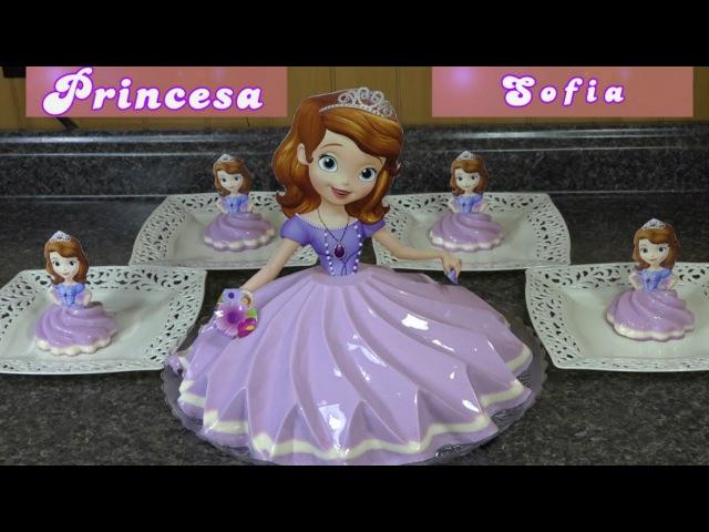 Gelatina de Princesa Sofia - Para Fiestas Infantiles - Recetas en Casayfamiliatv