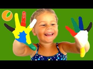 Сабрина рисует красками пальчиковые краски для малышеи  #Дети #Sabrinka 64