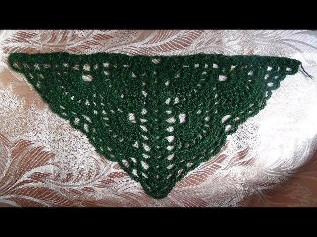 Веерный узор для шали или как начать вязать шаль сверху. Pattern for shawls