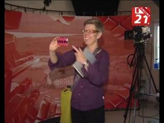 Шведские журналисты на ТВ-21