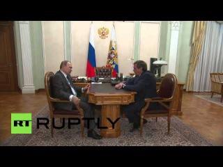 Россия: Губернатор Городецкий трусы Путина на финансовые показатели Новосибирска.