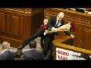 11 декабря 2015 Balls Brawls: Big fight in Ukraine parliament after opposition MP goes for PM Yatsenyuk's crotch