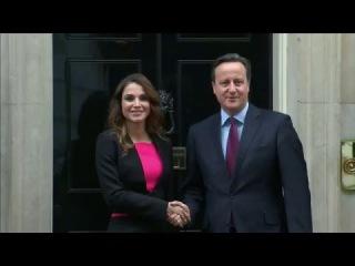 Королева Рания встретилась с Премьер-министром Великобритании Дэвидом Кэмероном.
