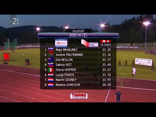 Women's 200m Velenje 20th International Athletic Meeting 2015